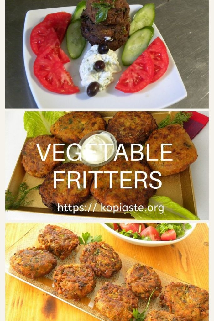 Collage vegetable fritters image