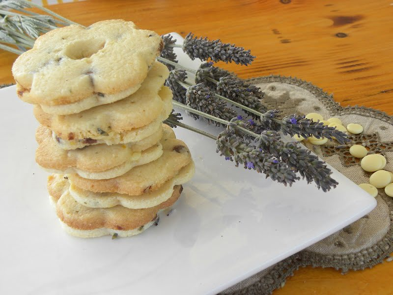 Lemon-Lavender and mint shortbread cookies image