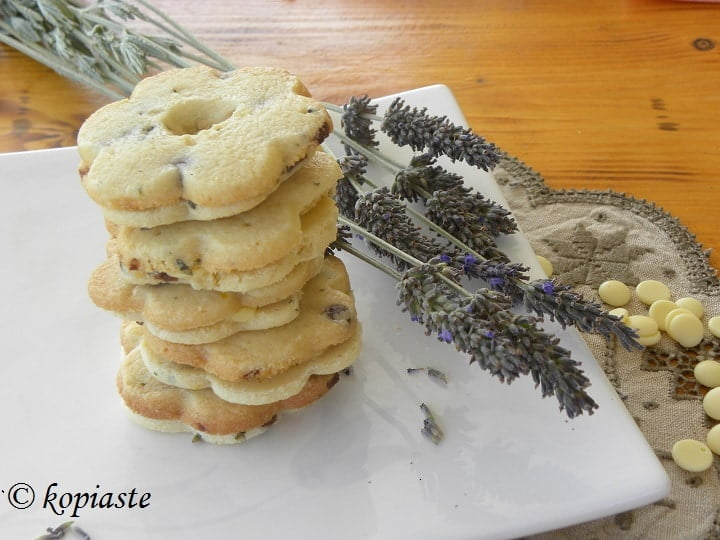 Lavender-Lemon & Mint Shortbread Cookies