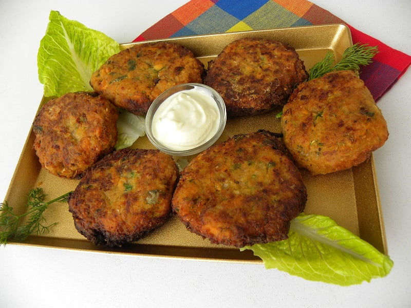 Vegetable fritters picture