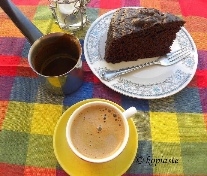 Cappuccino Glazed Chocolate Mayonnaise Cake