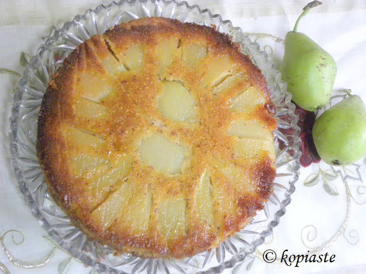 upside down pear cake image