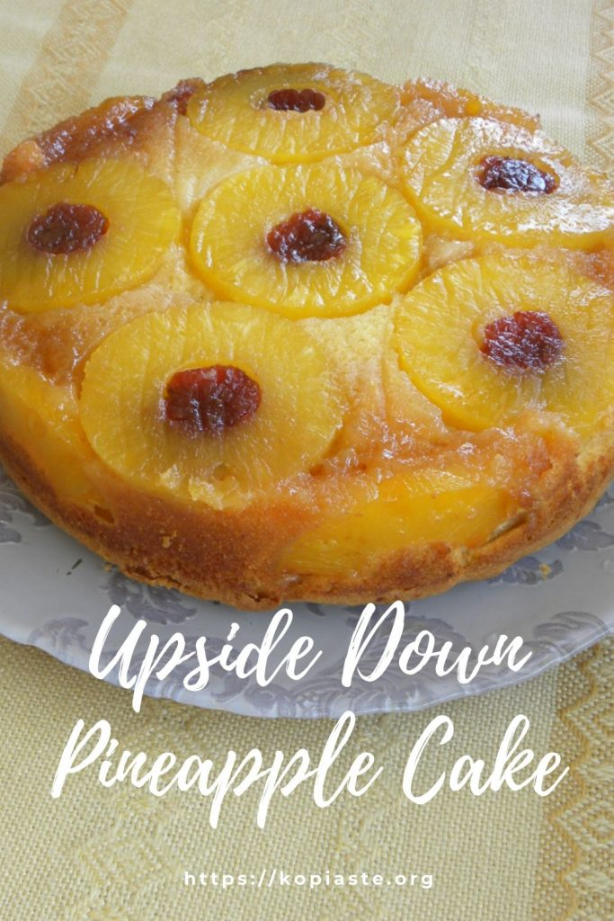 Collage Upside Down Pineapple Cake photo