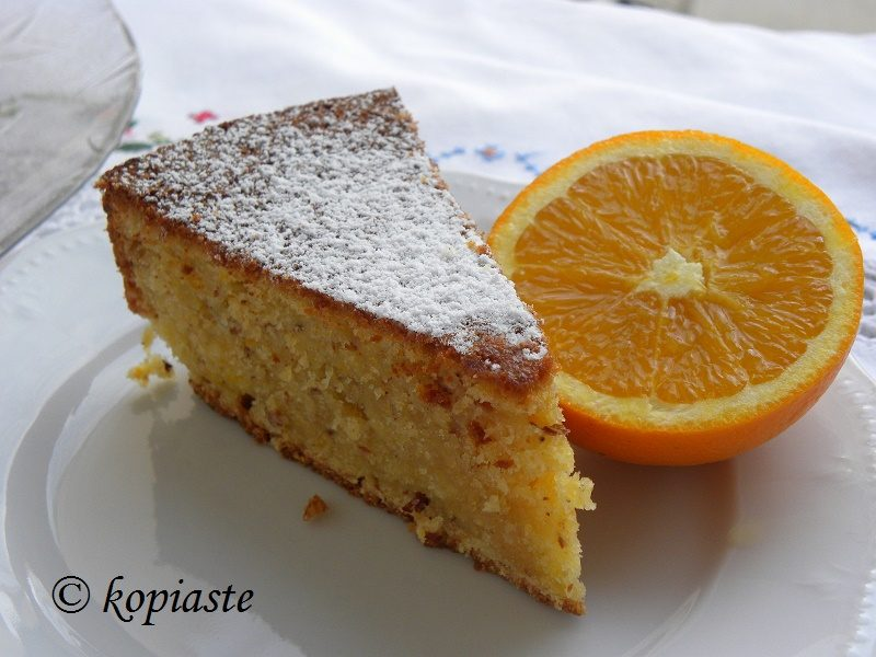Vegan Orange Almond Cake