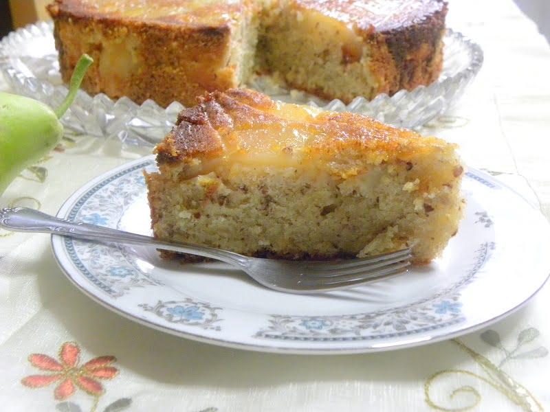 Pear upside down cake image