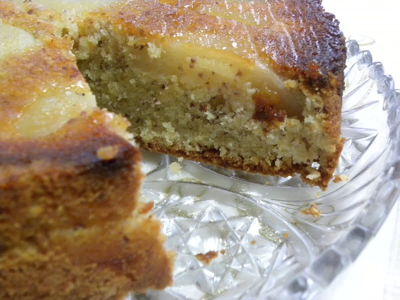 Upside Down Pear and Almond Honey Cake photo