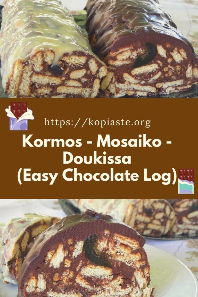 collage chocolate  log image