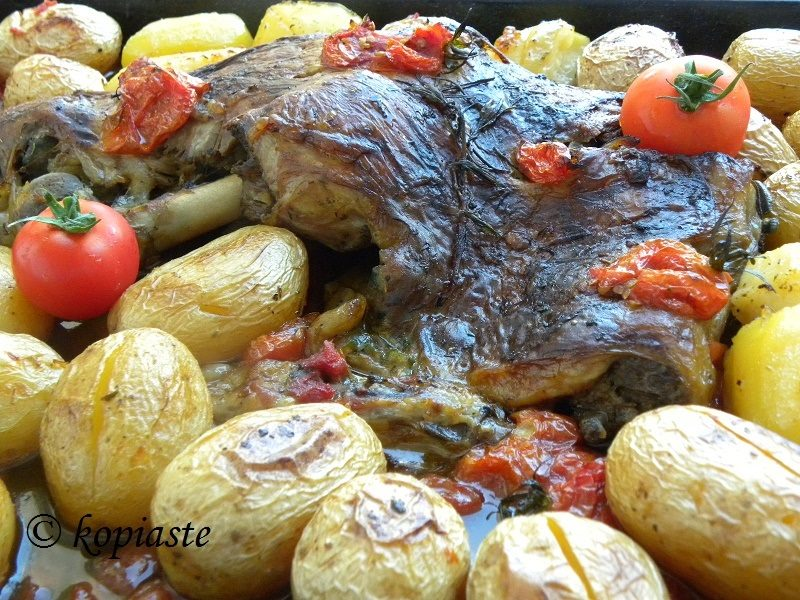 Bogana with potatoes
