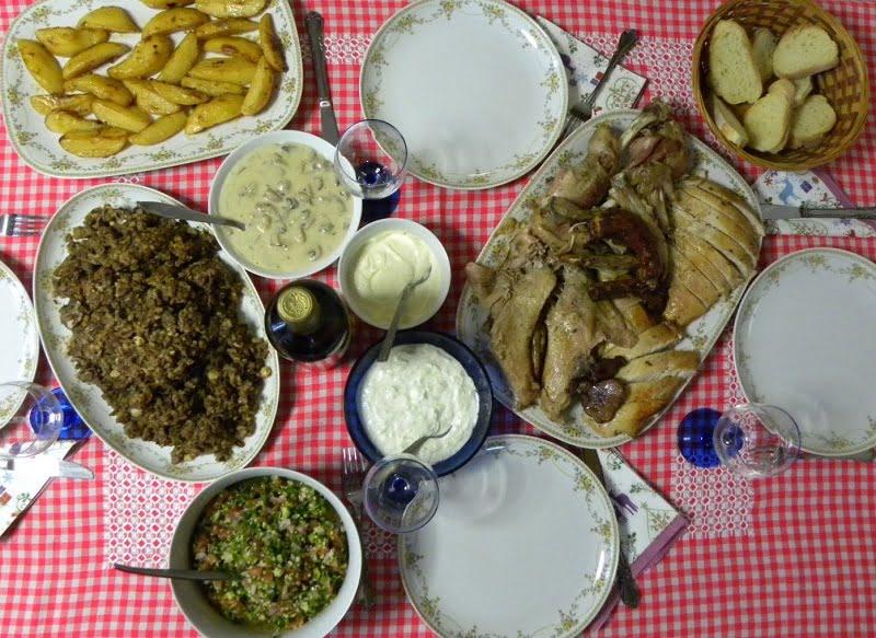 Christmas dinner table image