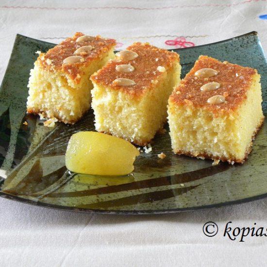 Coconut and Olive Oil Bergamot Revani Cake