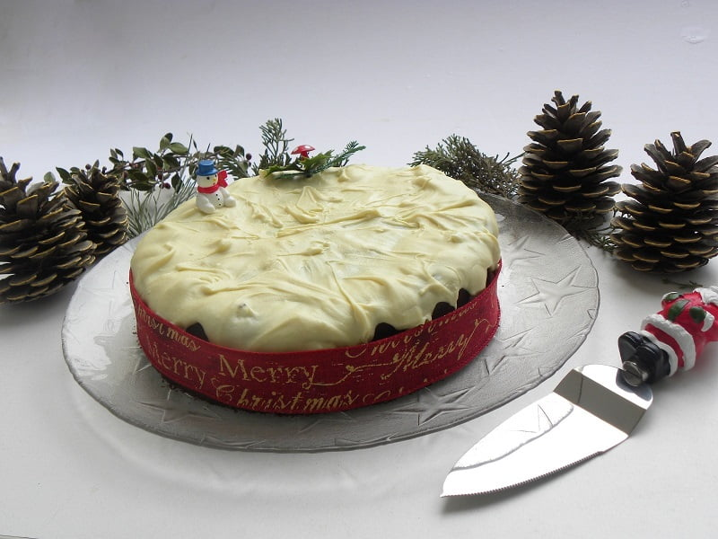 New Year's Cake with Grand Marnier & White Chocolate Glaze