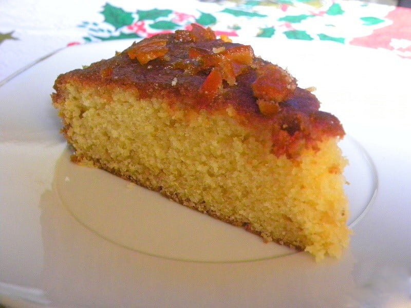 Mandarin Cake with Glaze