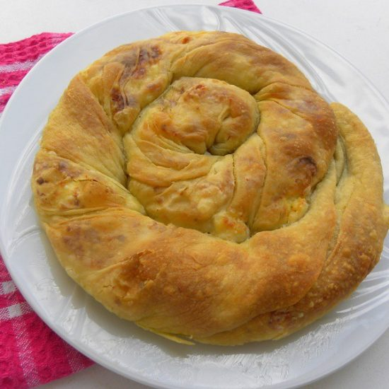 Tyropita Strifti (Greek Cheese Pie)