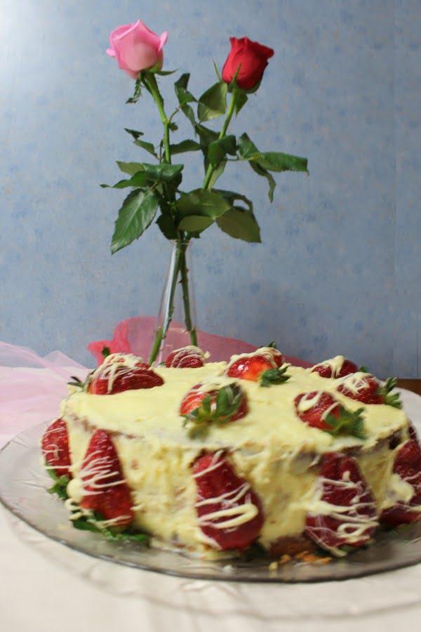 Elia's Birthday cake with roses