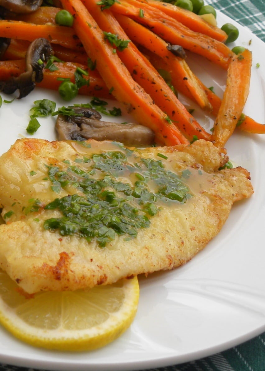 Sole Meuniere with Roasted carrots