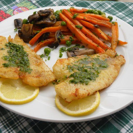 Sole Fish with Meunière Sauce