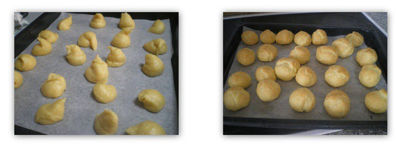 collage choux for Profiteroles image