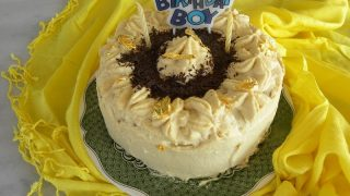 White Chocolate Mocha Mousse Angel Food Cake