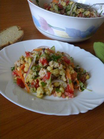 Chickpea Salad with quinoa and tahini image