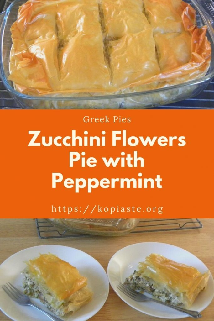 Collage Zucchini Flowers Pie with Peppermint image