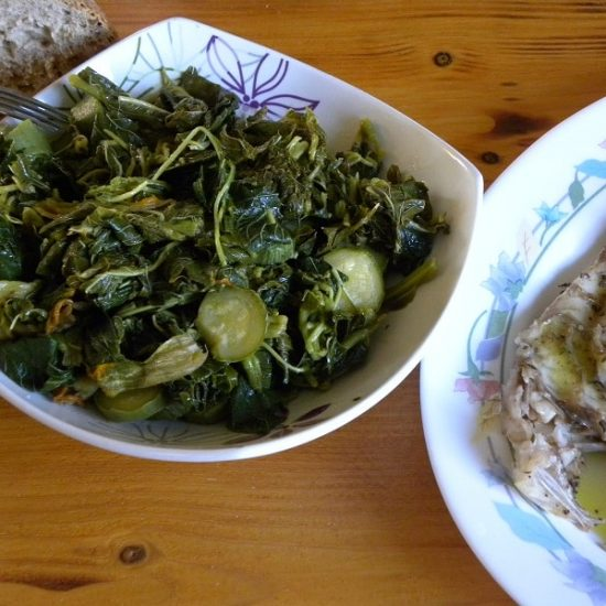 Vlita Salad (Amaranth Greens) and How to Serve Them