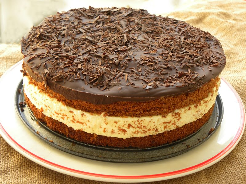 Bounty cake chocolate and coconut image