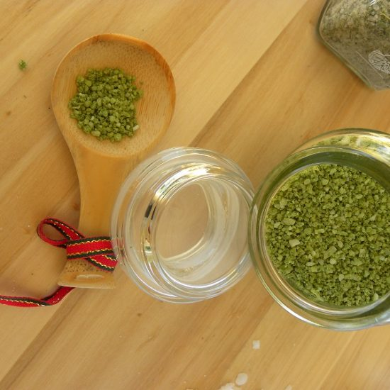 How to Make Gourmet Basil Sea Salt