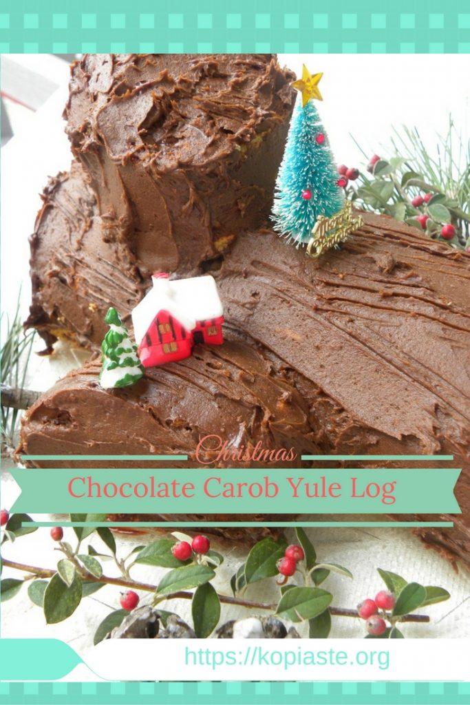 Collage Christmas Yule log image