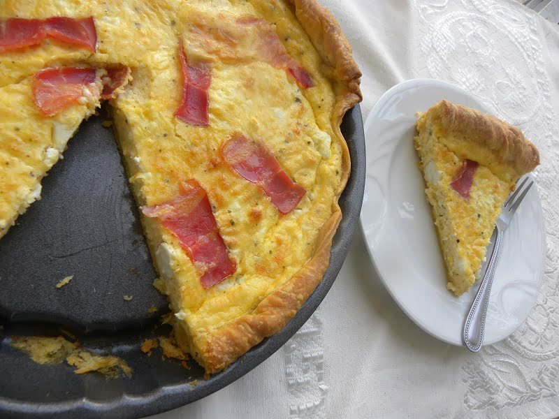 Greek-style feta tart image