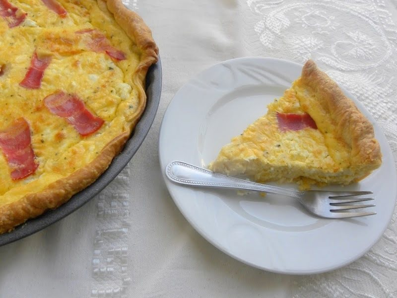 Quiche with feta and graviera image