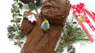 Christmas Chocolate Carob Yule Log (Bûche de Noël)