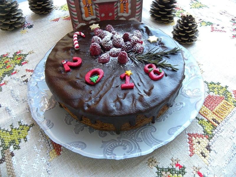 Chocolate almond cake vassilopita image