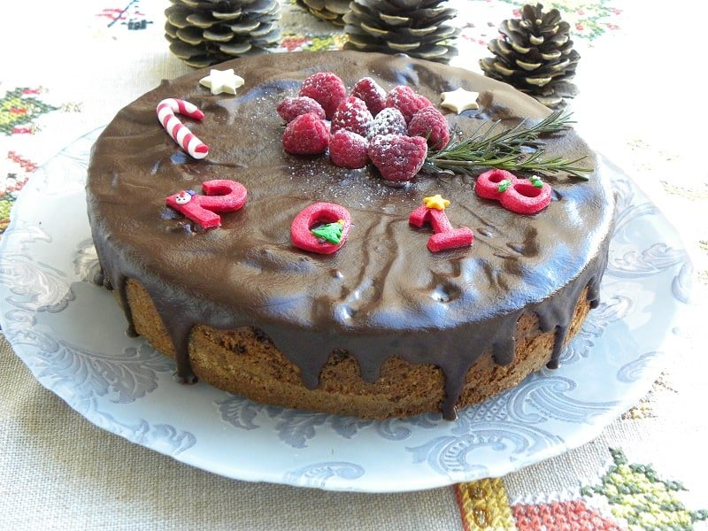 coffee cake with ganache image