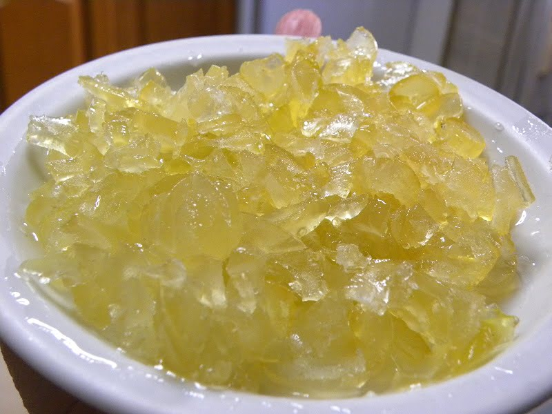 Bergamot fruit preserve cut into thin and small pieces image