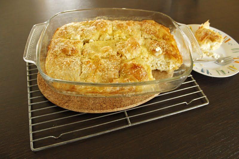 Patsavouropita cheese pie cut picture