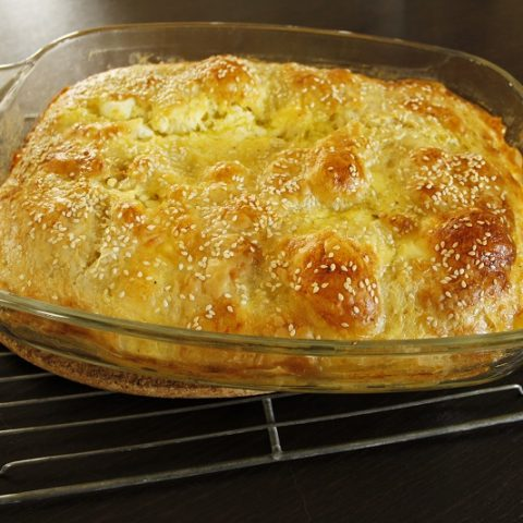 creased cheese pie image