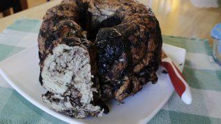 Aladoti Eliopita (Olive bread with tahini)