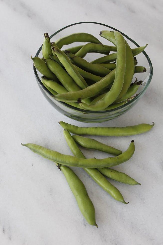 Fresh fava beans koukia image