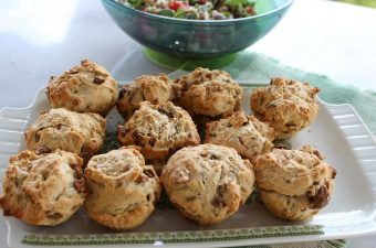 Mini olives breads and black-eyed peas image