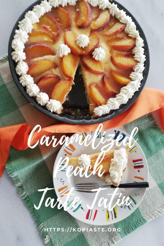 Collage Peach Custard Tarte Tatin photo