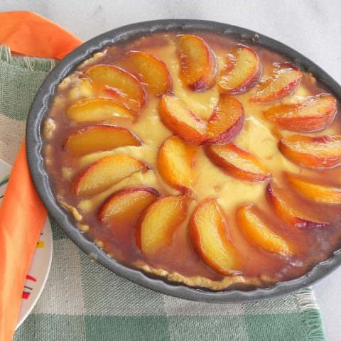 Peach tarte tatin photo