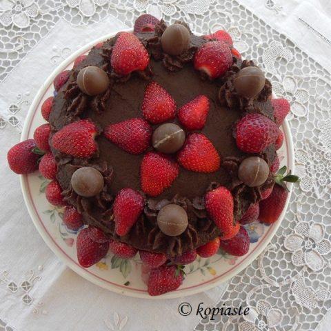Strawberry Chocolate Cake with 3 Greek Ingredients