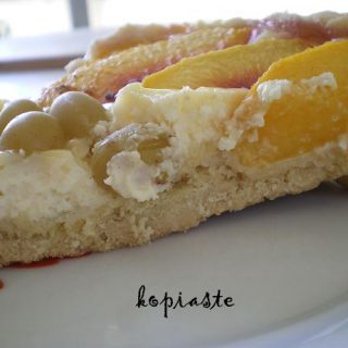 Peaches and Grapes Tart
