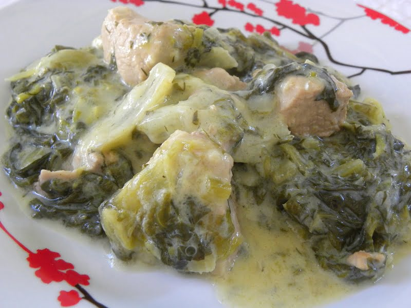 pork fricasse with lettuce image