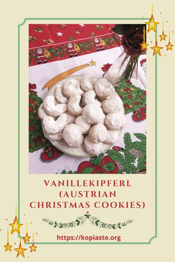 collage Vanillekipferl Christmas cookies image
