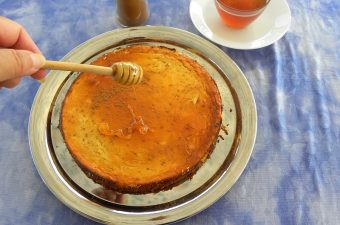 Melopita with honey cheesecake image