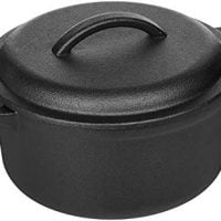AmazonBasics Pre-Seasoned Cast Iron Dutch Oven with Dual Handles - 2-Quart -(KA2QT)