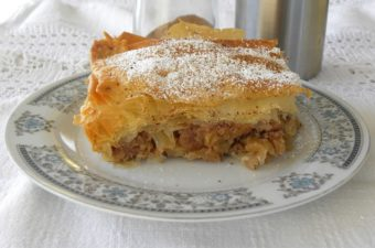 Milopita Bougatsa apple pie image