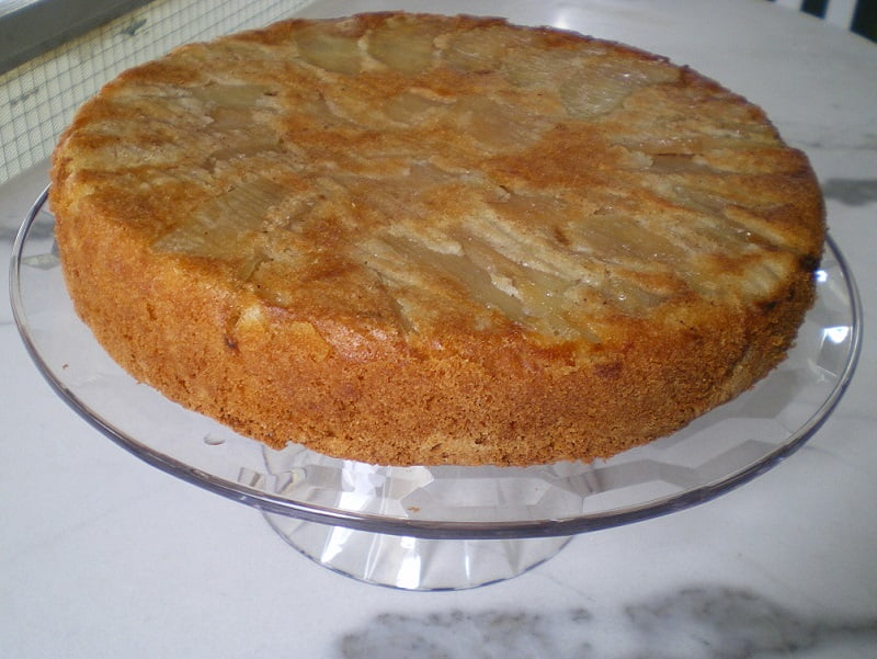 apple cake upside down image