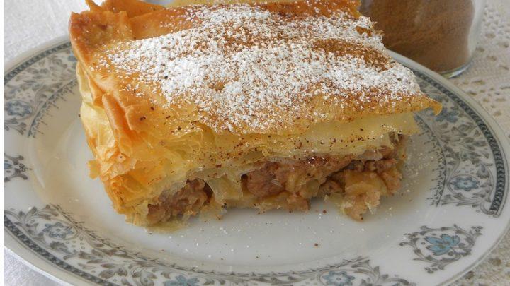 Milopita Bougatsa Greek Apple Pie With Phyllo Kopiaste To Greek Hospitality